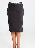 """Женская классическая теплая юбка """"Софи"""" средней посадки"""