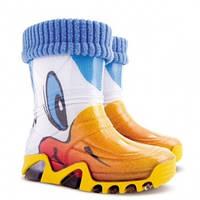 """Резиновые сапоги Demar """"Уточки"""" с носочком детские, фото 1"""