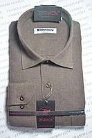 Кашемировая однотонная рубашка ZERMON (размерьі M. L. XXL)