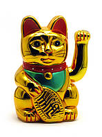 Кошка Манэки-нэко машущая лапой пластик
