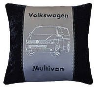 Автомобильная подушка с вышивкой фото логотипа машины подарок в авто