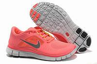 Кроссовки женские беговые Nike Free Run Plus 3 (найк фри ран, оригинал) розовые