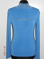 Стильная женская водолазка - гольф коттон голубая Tory Burch Турция размер 44