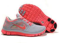 Кроссовки женские беговые Nike Free Run Plus 3 (найк фри ран, оригинал) серые