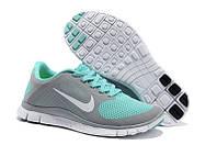 Кроссовки женские беговые Nike Free Runing 4.0 (найк фри ран, оригинал) серые