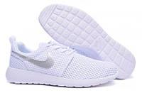 Кроссовки женские беговые Nike Roshe Run (найк роше ран, оригинал) белые