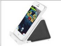 Подставка-динамик для мобильного телефона мини (черная) AU-218
