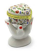 Шкатулка декоративная керамическая