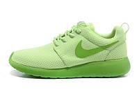 Кроссовки женские беговые Nike Roshe Run (найк роше ран, оригинал) зеленые