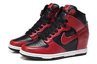 Кроссовки женские Nike Sneakers Dunk Sky (найк, оригинал) черно-красные