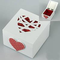 Красивая шкатулка из дерева «Сердце» 10х10х7 см