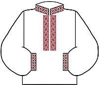 Заготовка для вышивки мужской сорочки 4 Серый Лен + Габардин