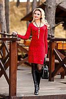 Женское эффектное нарядное коктейльное платье из жаккарда