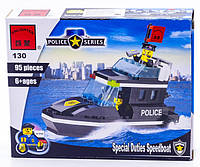 Конструктор Brick 130 Полицейский катер 95дет.