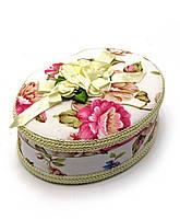 Шкатулка сувенирная овальная