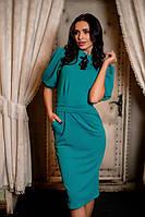 Платье женское футляр с брошкой