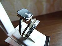 Кольцо серебряное с золотой вставкой и улекситом