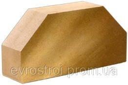 """Кирпич облицовочный """"Литос"""" Стандартный гладкий  2-х угловой 250×120×65"""