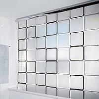 Шторка для ванной Spirella Rolo Frame, черный