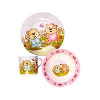 Набор детской посуды Оселя Мишки, 3 предмета