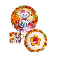 Набор детской посуды Оселя Котенок, 3 предмета
