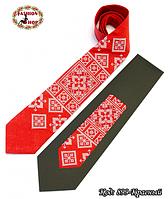 Вышитый красный галстук лён Восток