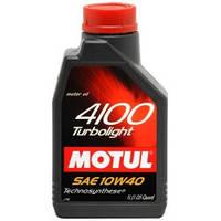 Полусинтетическое моторное масло Motul (мотюль) 4100 Turbolight 10W-40 1л.