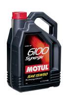 Специальное моторное масло Motul (мотюль) 6100 Synergie 15W-50 4л.