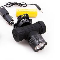 Налобный фонарь с велокреплением Bailong 6821-T6
