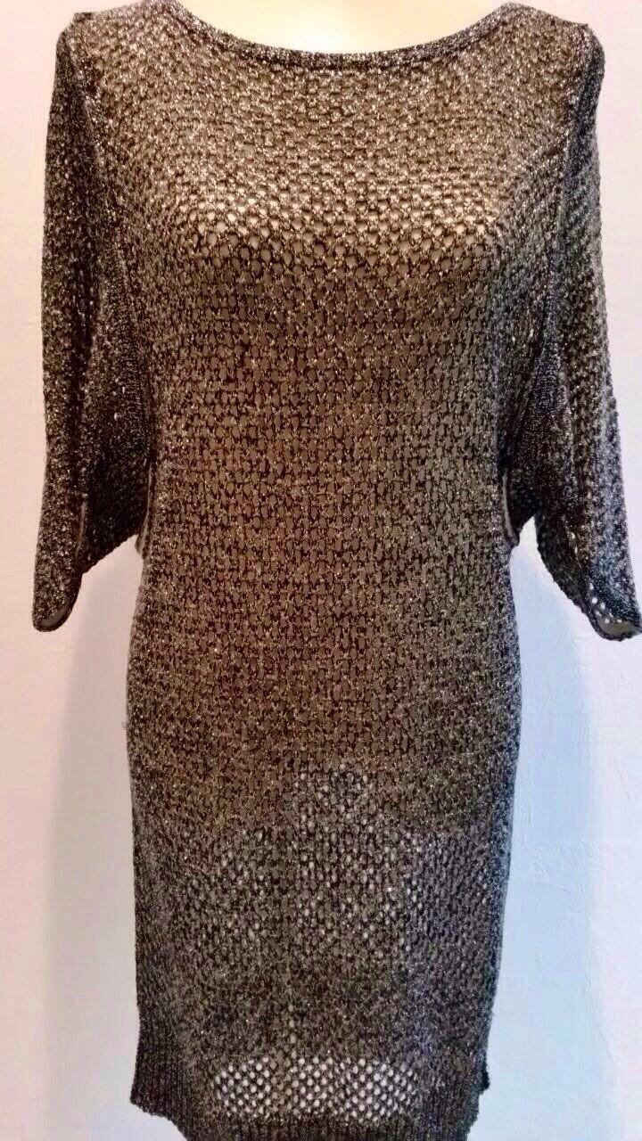Платье из трикотажа с люрексом