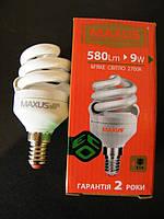 Компактная эконом лампа Maxus  9W 2700K E14