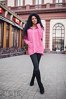 "Стильная молодежная женская кофта - кардиган ""Шинкаренко пинк"" мод АЛИ024"