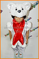 Детский костюм Белый мишка Умка с красным шарфом