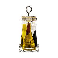 """Набор """"Трио"""": масло оливковое E.V., масло оливковое E.V. с острым перцем и уксус бальзамический 300мл"""