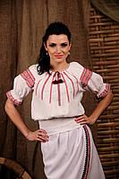 Женская вышиванка с коротким рукавом, размер 44