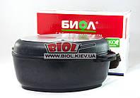 Гусятница (утятница) алюминиевая 4л с антипригарным покрытием, утолщенным дном, крышкой-сковородой Б