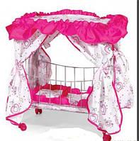 Кроватка детская 9350 /015 на колесиках с балдахином