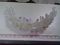 Свадебная веточка для прически невесты (кремовая)