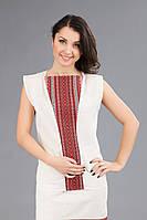 Женская вышитая блуза без рукавов, размер 44