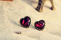 [ Сердечки ] Серьги сережки гвоздики в форме сердца