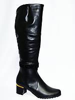 Женские демисезонные кожаные сапоги., фото 1