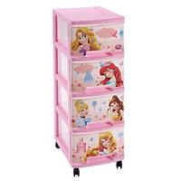 Пластиковый комод детский Curver Disney Princess на четыре ящика
