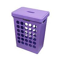 Корзина для белья Plast Team фиолетовая 6011, 45 л