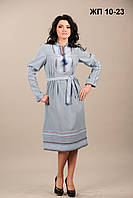 Вышитое женское платье, размер 44