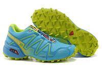 Кроссовки женские беговые Salomon Speedcross (саломон, оригинал) голубые