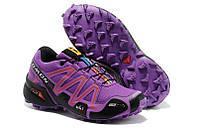 Кроссовки женские беговые Salomon Speedcross (саломон, оригинал) фиолетовые