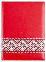 """Ежедневник А5 датированый""""Folklore"""", 352 стр., красный"""