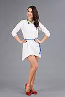 Вышитое мини-платье, размер 44