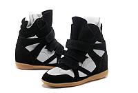 Кроссовки женские Isabel Marant (сникерсы, оригинал) черно-белые
