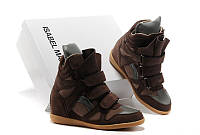 Кроссовки женские Isabel Marant (сникерсы, оригинал) коричневые